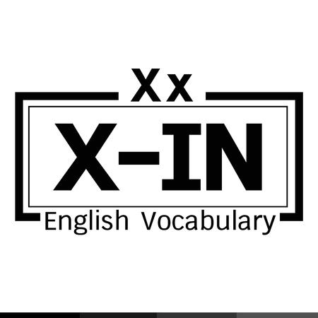 vocabulary: X-IN english word vocabulary illustration design Illustration