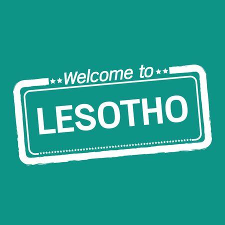 lesotho: Welcome to LESOTHO illustration design
