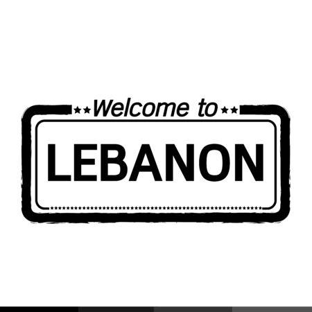 lebanon: Welcome to LEBANON illustration design Illustration