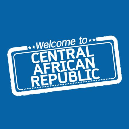 central african republic: Welcome to CENTRAL AFRICAN REPUBLIC illustration design Illustration