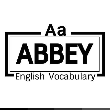 abbey: ABBEY english word vocabulary illustration design Illustration