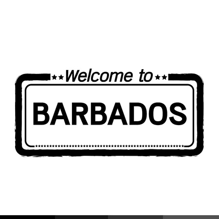 barbados: Welcome to BARBADOS illustration design Illustration