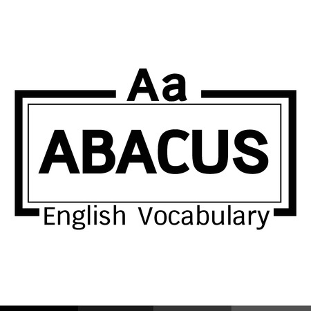 abacus: ABACUS english word vocabulary illustration design