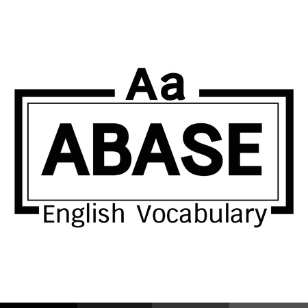 vocabulary: ABASE english word vocabulary illustration design