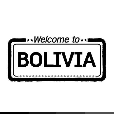 bolivia: Welcome to BOLIVIA illustration design Illustration