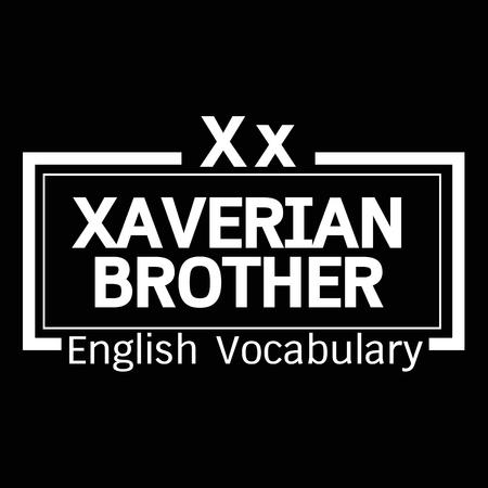 vocabulary: Xaverian Brother english word vocabulary illustration design Illustration