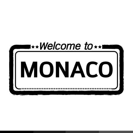 monaco: Welcome to MONACO illustration design Illustration