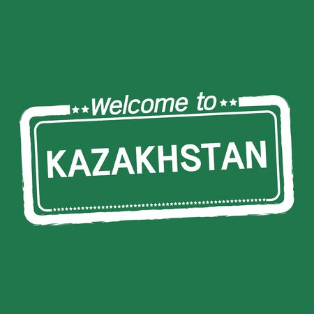 kazakhstan: Welcome to KAZAKHSTAN illustration design