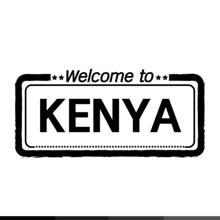 kenya: Welcome to KENYA illustration design