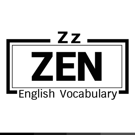 vocabulary: ZEN english word vocabulary illustration design