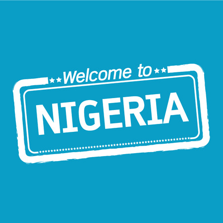 nigeria: Welcome to NIGERIA illustration design