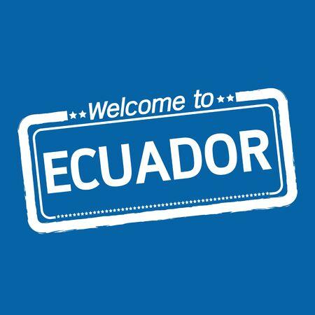 ecuador: Welcome to ECUADOR illustration design