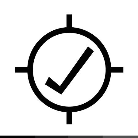 selector: Target icon sign illustration design