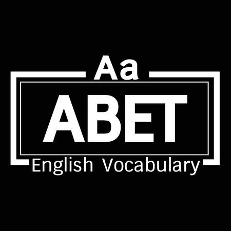 vocabulary: ABET english word vocabulary illustration design