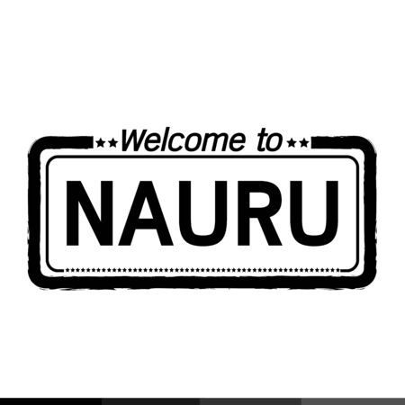nauru: Welcome to NAURU illustration design