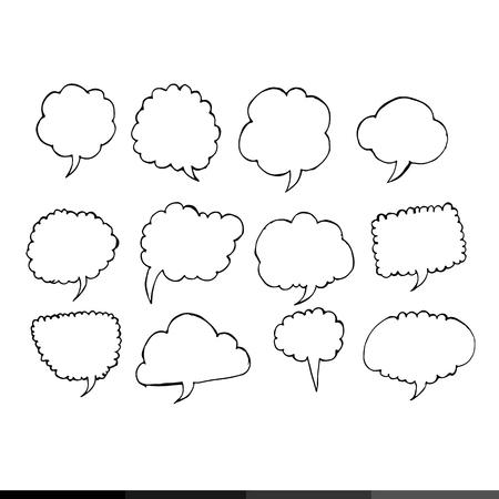 kid s illustration: Speech bubble hand drawing illustration design Illustration