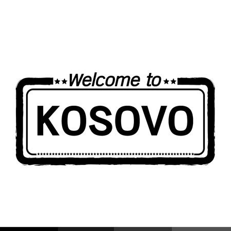 kosovo: Welcome to KOSOVO illustration design Illustration