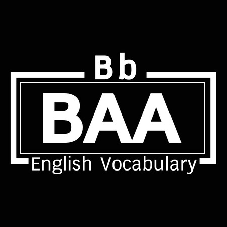vocabulary: BAA english word vocabulary illustration design