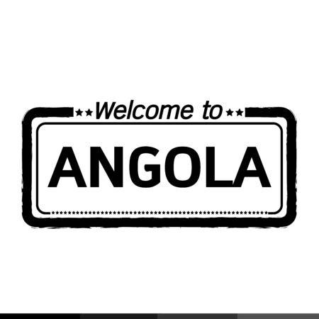 angola: Welcome to ANGOLA illustration design