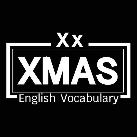 vocabulary: XMAS english word vocabulary illustration design