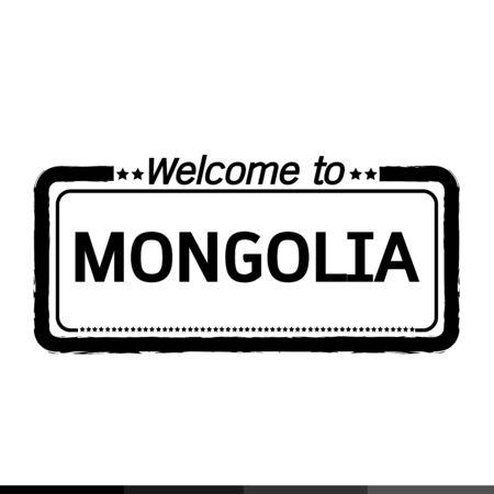 mongolia: Welcome to MONGOLIA illustration design Illustration