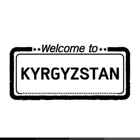 kyrgyzstan: Bienvenido a Kirguistán, ilustración, diseño
