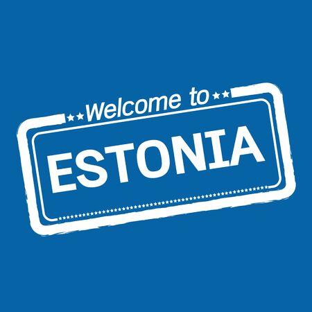 estonia: Welcome to ESTONIA illustration design