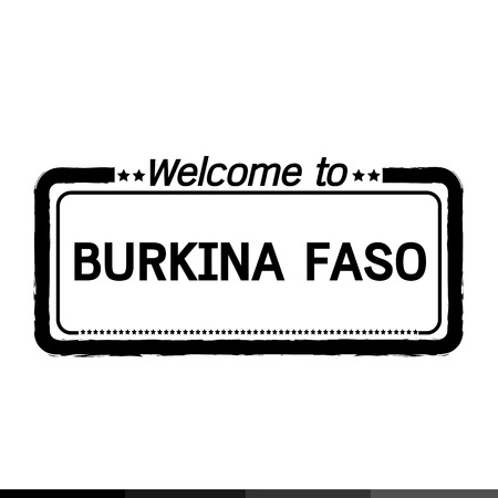 burkina faso: Welcome to BURKINA FASO illustration design Illustration