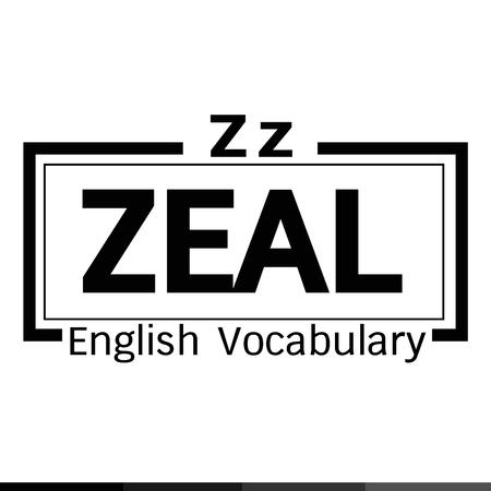 ZEAL english word vocabulary illustration design