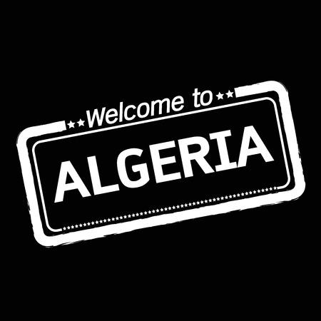 algeria: Welcome to ALGERIA illustration design