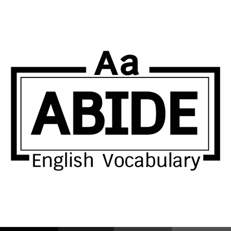 vocabulary: ABIDE english word vocabulary illustration design