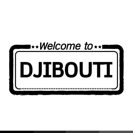 djibouti: Welcome to DJIBOUTI illustration design Illustration