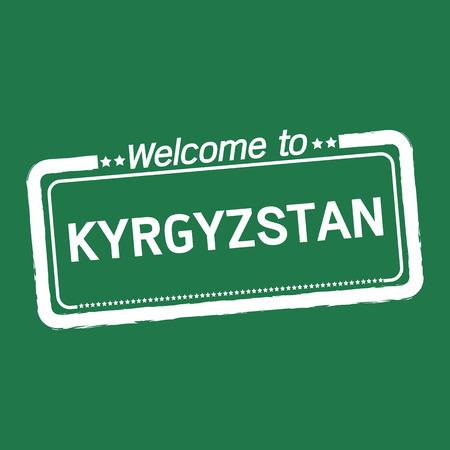 kyrgyzstan: Bienvenido a Kirguist�n, ilustraci�n, dise�o