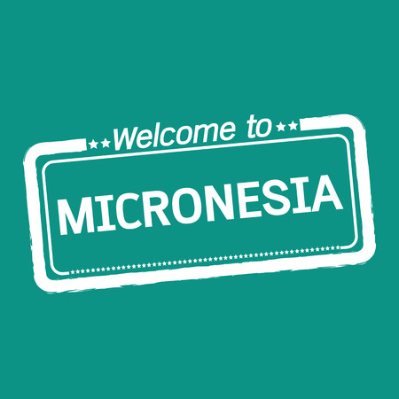 micronesia: Welcome to MICRONESIA illustration design