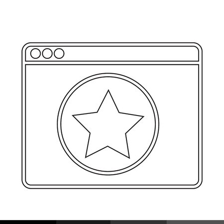 web browser: Web Browser Icon illustration design Illustration