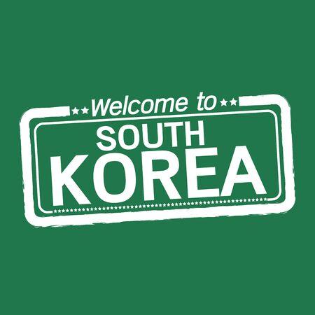 south korea: Welcome to SOUTH KOREA illustration design