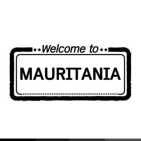 mauritania: Welcome to MAURITANIA illustration design