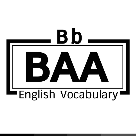 baa: BAA english word vocabulary illustration design