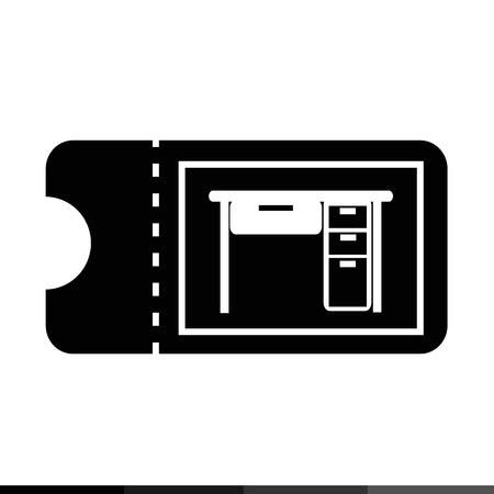 furniture design: icon ticket for furniture illustration design Illustration