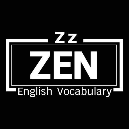 vocabulary: ZEN english word vocabulary illustration design
