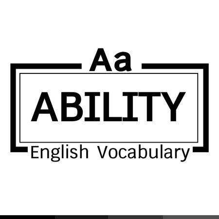 vocabulary: ABILITY english word vocabulary illustration design