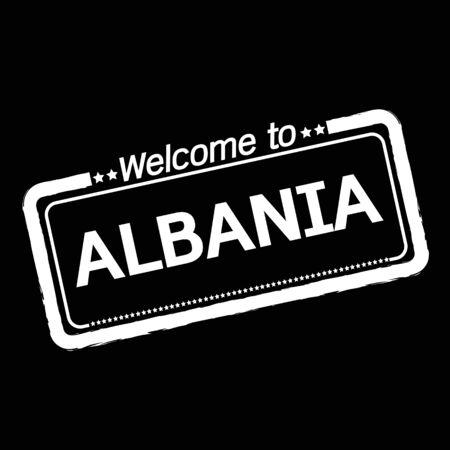 albania: Welcome to ALBANIA illustration design
