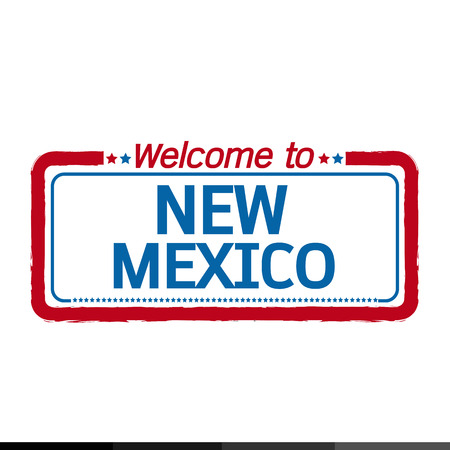 new mexico: Welcome to NEW MEXICO of US State illustration design Illustration