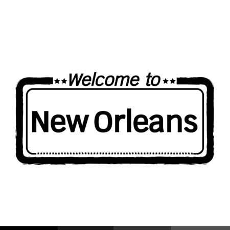 new orleans: Welcome to New Orleans City illustration design Illustration