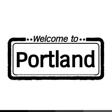 portland: Welcome to Portland City illustration design