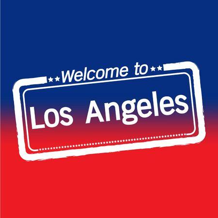 los: Welcome to Los Angeles City illustration design Illustration