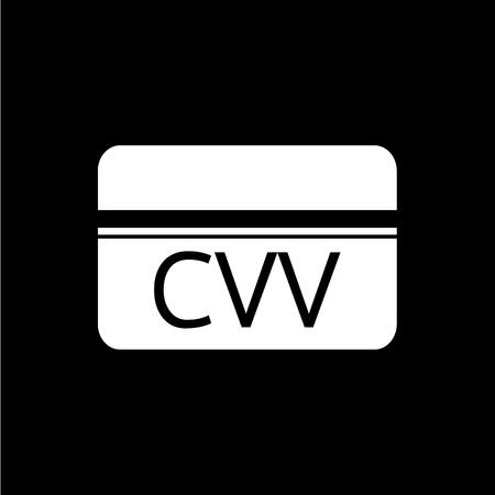 prestar atencion: Tarjeta de Verificación CVV valor icónico diseño Vectores