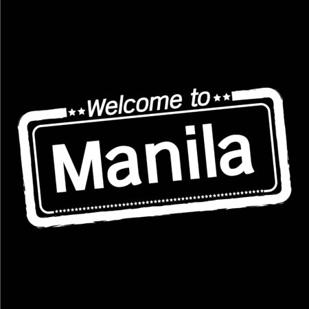 manila: Welcome to Manila City illustration design