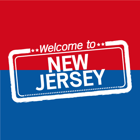 new jersey: Welcome to NEW JERSEY of US State illustration design Illustration