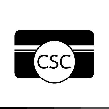 pay attention: Card Security Code CSC icon illustration design